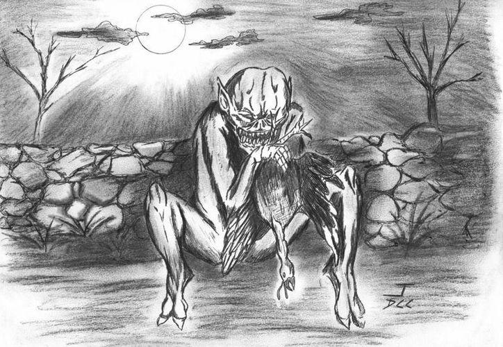 Se asegura que un ser demoniaco como éste se llevó a Juan y dejó mudo de por vida a su hermano Esteban. (Jorge Moreno/SIPSE)