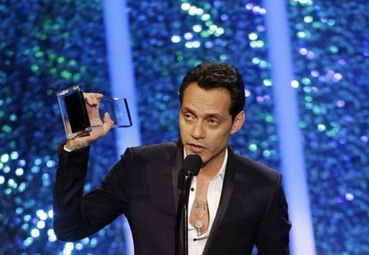 Entre los Billboard latinos que ganó Marc Anthony están: top latin álbum y artista del año masculino. (Foto: AP)