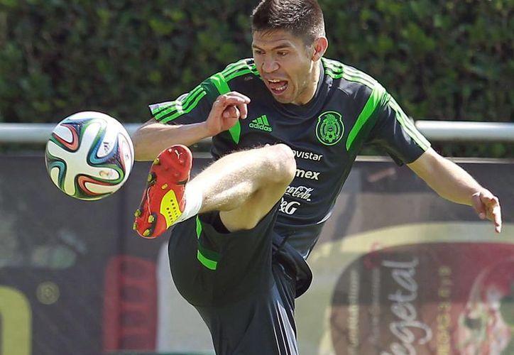 Aunque destacó que la selección mexicana jugó bien ante Portugal, Oribe Peralta reconoció que no pudieron anotar. (Archivo Notimex)