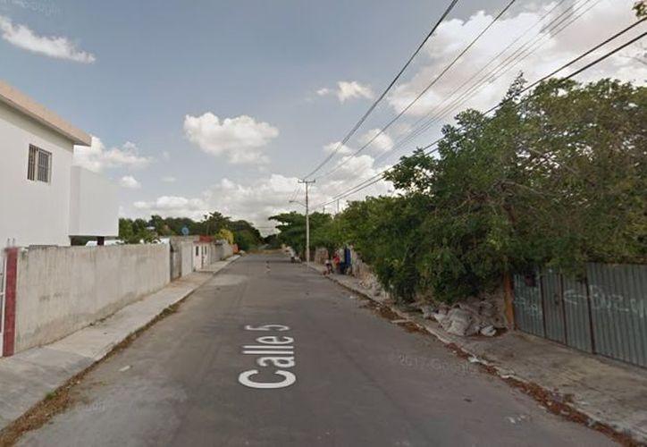 El disturbio ocurrió a inicios de mes en la calle 5 entre 36 y 38 de la colonia San Pedro Uxmal en Chuburná. (Google Maps)