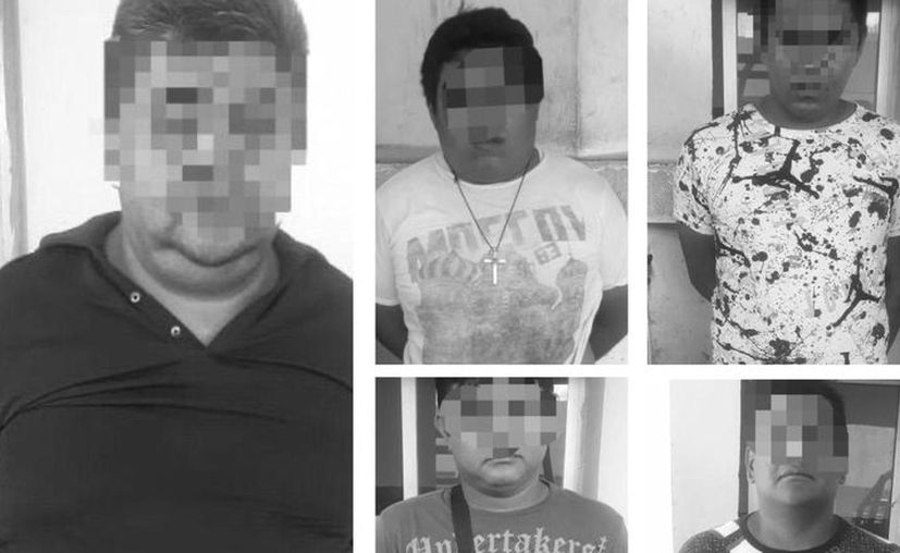 Los detenidos son dos yucatecos, un poblano, un veracruzano y un tabasqueño. (Novedades Yucatán)
