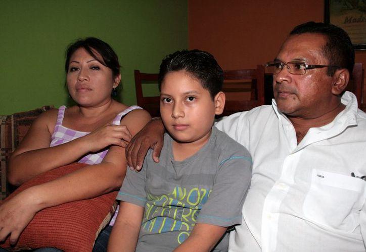 Diego de 10 años con  diabetes tipo 1. (Milenio Novedades)