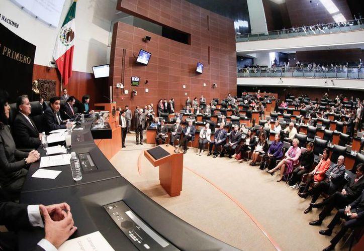 En el Senado de la República se realizó la Declaración Conjunta adoptada por las Delegaciones de México y la Unión Europea (Foto de archivo de Notimex)