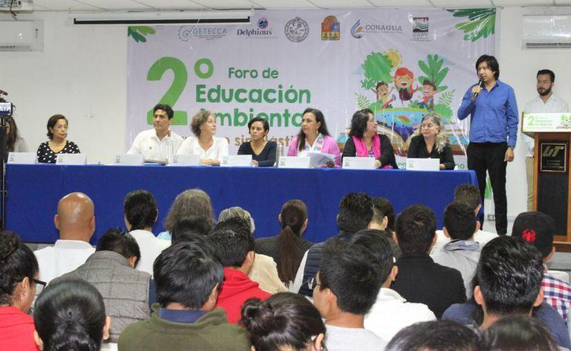 """Durante el foro se presentaron estrategias que forman parte de la iniciativa """"Quintana Roo sin Plástico"""". (Adrián Barreto/SIPSE)"""