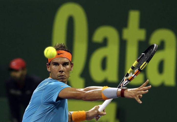 Rafael Nadal fue eliminado por el alemán Michael Berrer en la primera ronda del torneo de Doha, en Qatar. (Foto. AP)