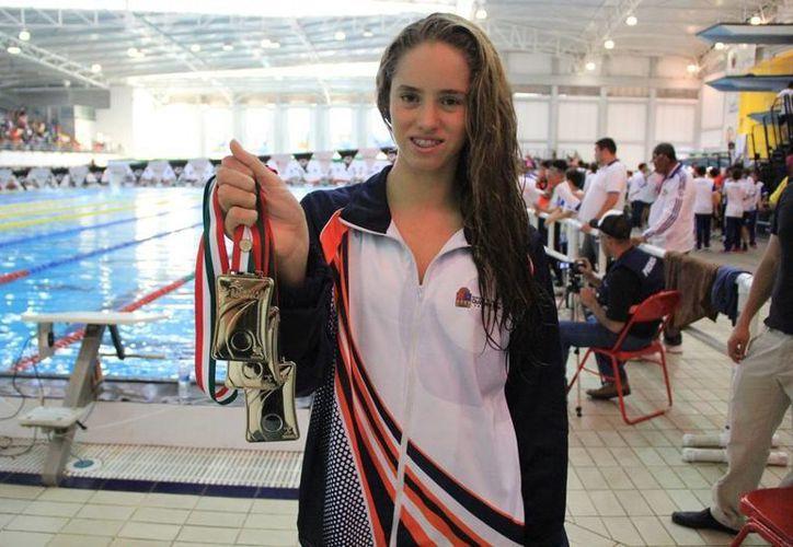 Taydé Andrea Sansores consiguió tres medallas de oro y una de bronce. (Redacción/SIPSE)