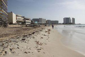 Cancún luce sus playas limpias