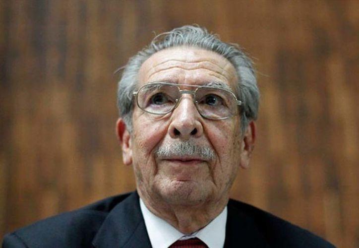 Efraín Ríos Montt murió este domingo en su residencia de una colonia de la elegante zona 15 de la capital guatemalteca. (Foto: La Razón)