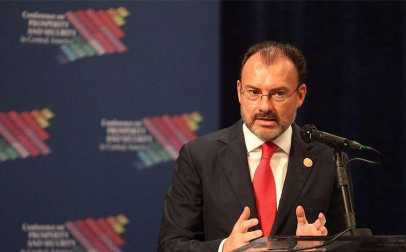 El secretario de Relaciones Exteriores Luis Videgaray
