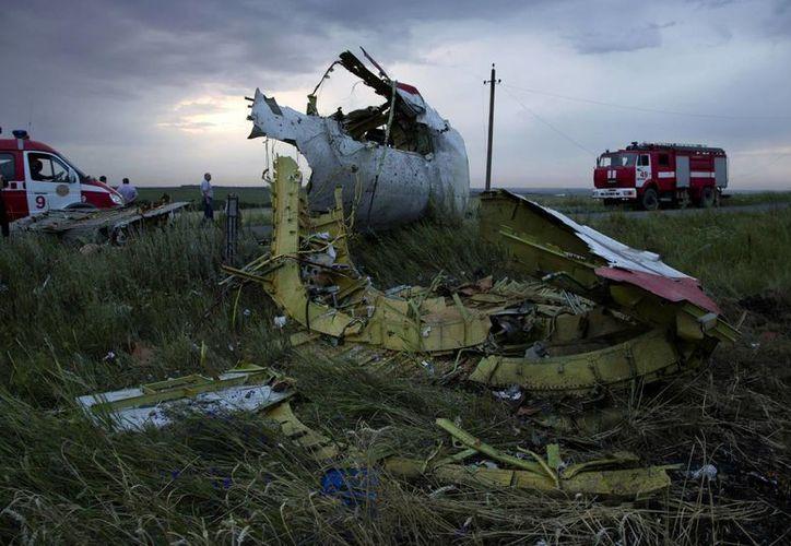 El Boeing 777 de Malaysia Airlines habría sido derribado por separatistas pro rusos. (Foto: AP)