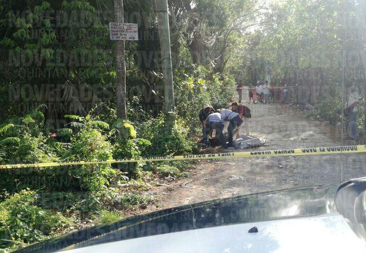 La zona fue acordonada por las autoridades. (Eric Galindo/ SIPSE)
