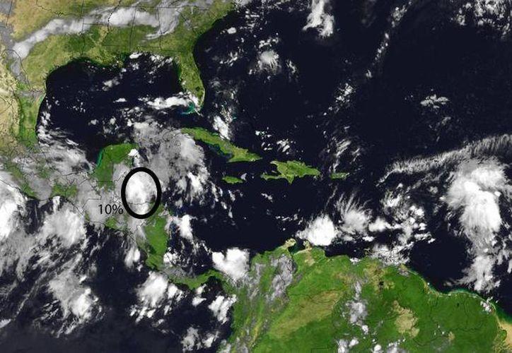 La zona de inestabilidad atraviesa la Península de Yucatán. (Cortesía Conagua)