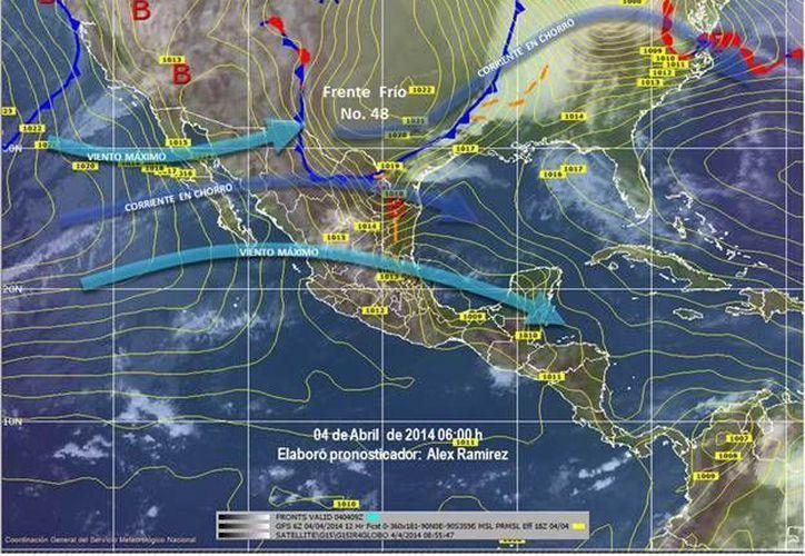 El Servicio Meteorológico Nacional informa que habrá vientos del Este y Sureste de 25 a 40 kilómetros por hora. (Redacción/SIPSE)