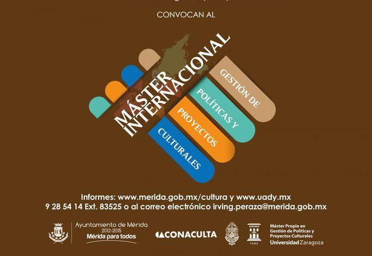 Cartel promocional del Máster Internacional en Gestión de Políticas y Proyectos Culturales. (Cortesía)