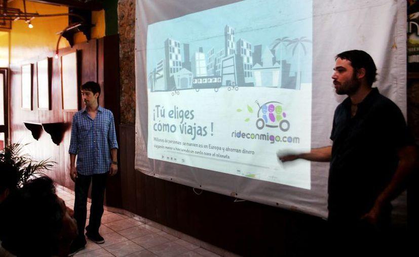 La presentación de rideconmigo en Mérida. (Christian Ayala/SIPSE)