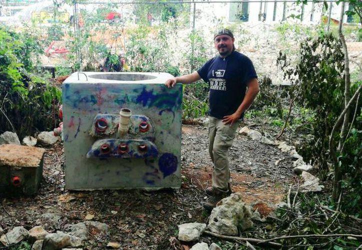 Convocan a la comunidad en general para llenar el contenedor. (Daniel Pacheco/SIPSE