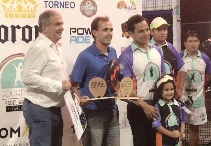 Pablo Díaz y Wilson Arceo fueron los  campeones de la primera fuerza. (Raúl Caballero/SIPSE)