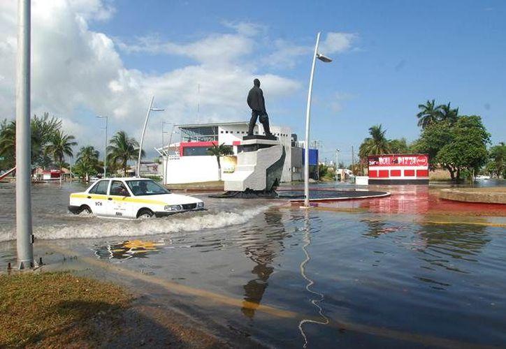 En Chetumal cada dos años caen 110 milímetros de precipitación pluvial y 201 milímetros cada 10 años. (Agencias)