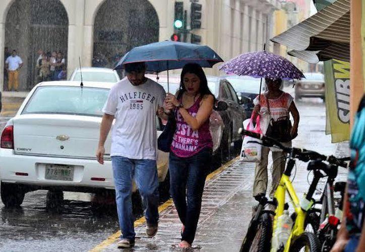 Lluvias para este lunes.(Foto: Novedades Yucatán)