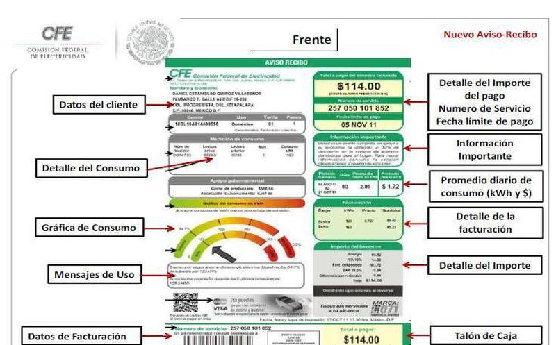 Presenta Cfe Su Nuevo Recibo De Luz Grupo Sipse
