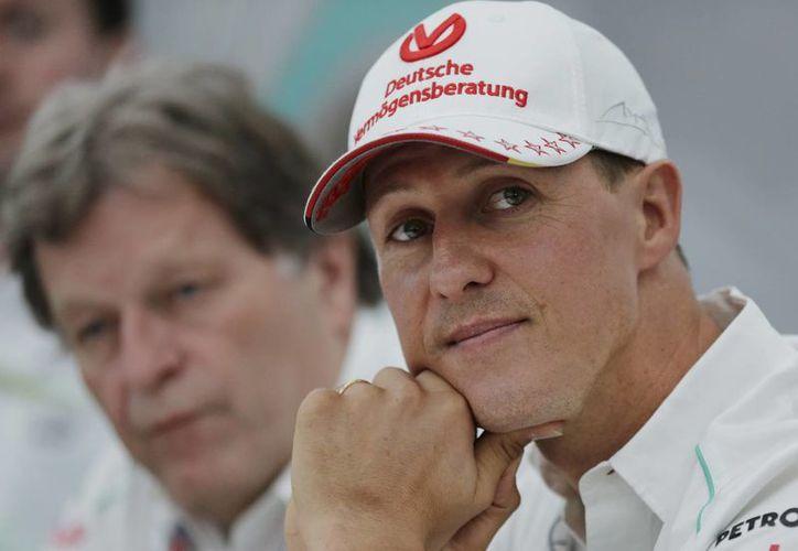 Foto de Michael Schumacher durante una conferencia de prensa en octubre de 2012. (Foto: AP)