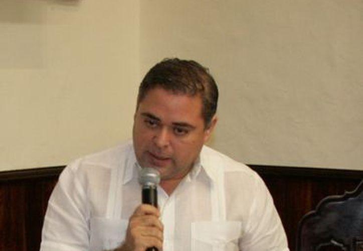 Enrique Alfaro Manzanilla, coordinador de los regidores del PRI en el Cabildo de Mérida. (Milenio Novedades)