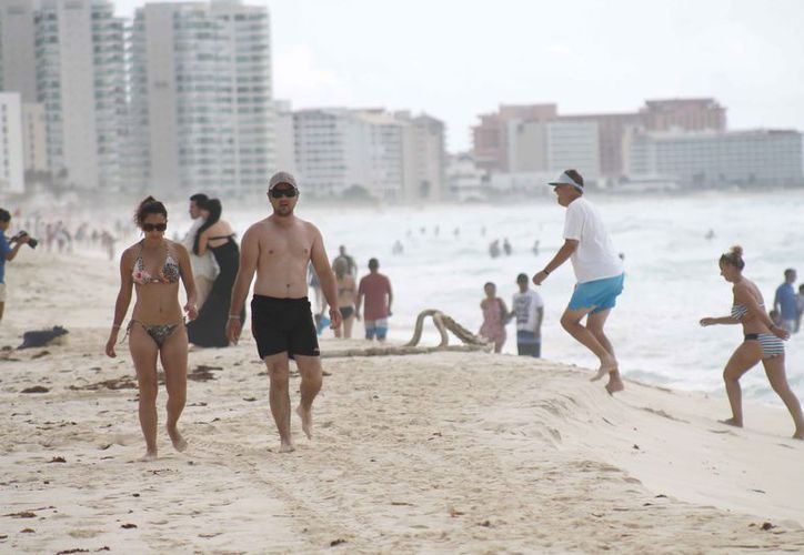 Las playas del destino registraron gran afluencia de turistas. (Israel Leal/SIPSE)