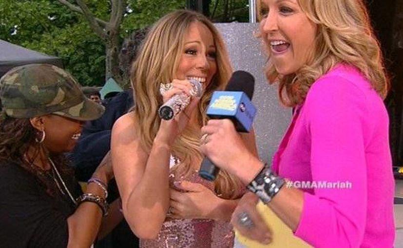 La cantante tomó de buena gana el incidente con su vestido. (gma.yahoo.com )