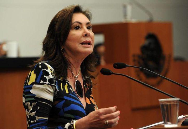 La diputada Beatriz Zavala Peniche, vicepresidenta de la Cámara de Diputados, considera que es urgente cambiar el concepto del desarrollo social. (Milenio Novedades)