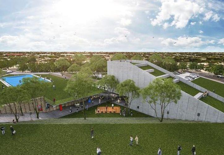 Imagen del proyecto del Centro Cultural del Sur, el cual ofrecerá una diversidad de talleres para los meridanos de esta zona. (Cortesía)