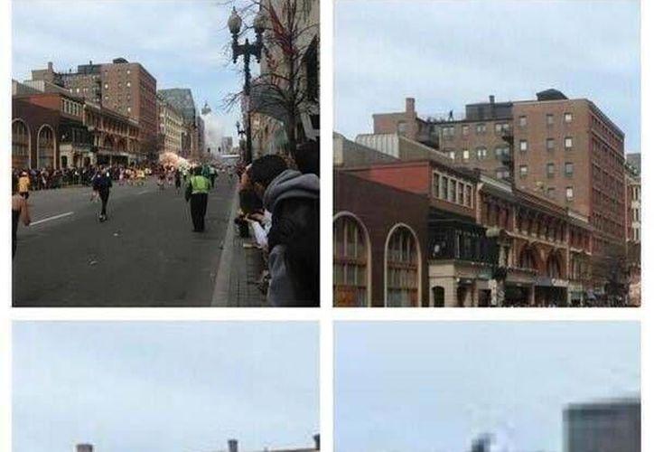 Algunas personas aseguran que 'la persona' sobre el techo sería el autor material del atentado. (Foto: Internet)