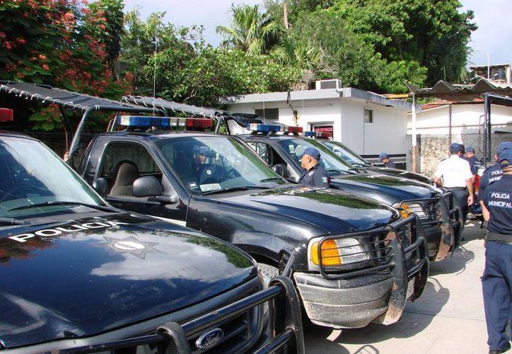 A principios del año la dirección de Seguridad Pública tenía 12 patrullas, de las cuales seis estaban fuera de servicio. (Manuel Salazar/SIPSE)