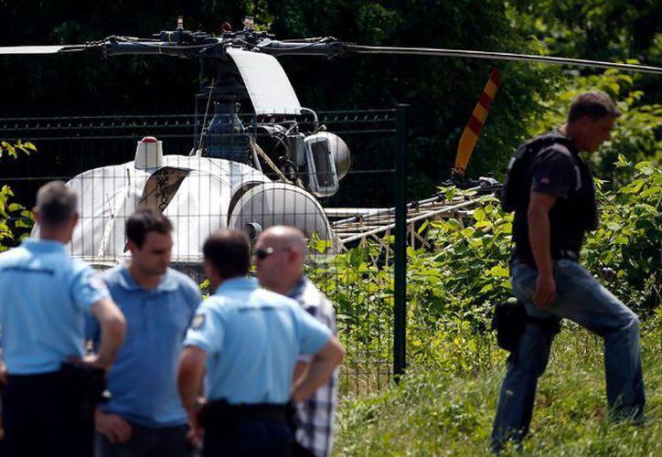 El helicóptero fue hallado en la localidad de Garges-les-Gonesse. (Internet)