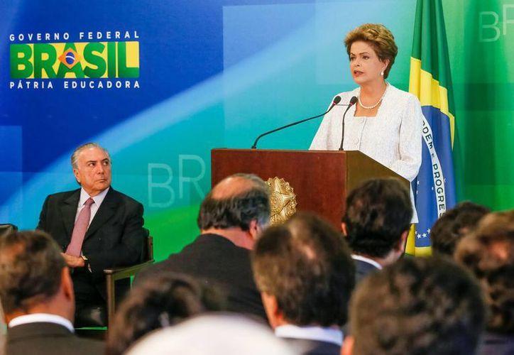 La presidenta de Brasil, Dilma Rousseff anunció las medidas adoptadas en el marco de su reforma administrativa, entre ellas la eliminación de ocho ministerios. (Notimex)