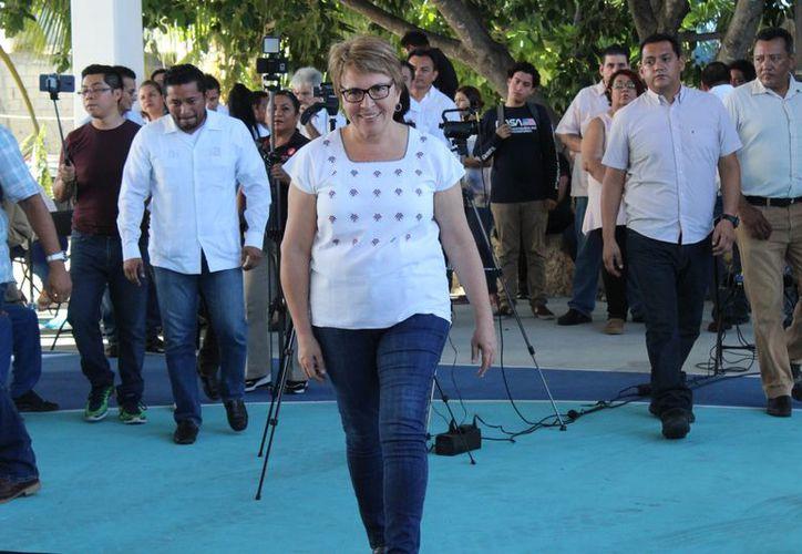 La presidenta municipal electa, Laura Beristáin, dijo que habrá legalidad en el cambio de gobierno. (Redacción/SIPSE)