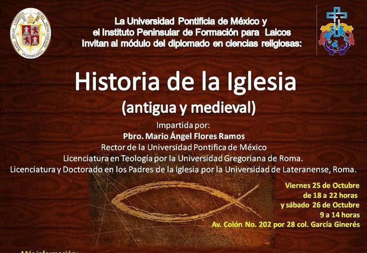 Cartel promocional del curso Historia de la Iglesia. (Cortesía)