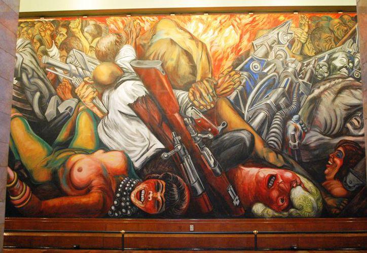 José Clemente Ángel Orozco  realizó 'La katharsis' (1934) en el Palacio de Bellas Artes. (.wikipaintings.org)