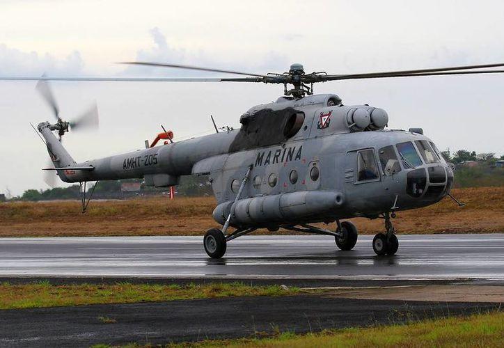 El helicóptero que Rusia acusó de tener motores robados, hoy es parte de la veintena que conforma la flotilla de MI-17 para el combate contra el narcotráfico. (Rafael Cordero/airliners.net)