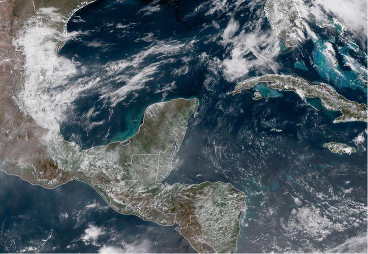 Se prevé que el Frente Frío 46 se ubique al norte de la Península de Yucatán. (Conagua)