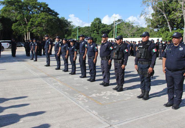 Cuatro elementos policíacos de Othón P. Blanco están bajo investigación por robo. (Daniel Tejada/SIPSE)