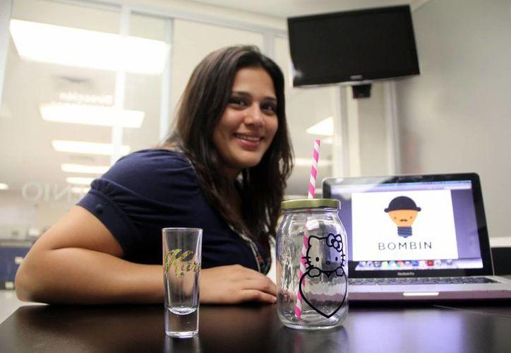 """""""No tengan miedo de emprender y déjense orientar. Si están estudiando acérquense a sus maestros y a las incubadoras, son importantes para aterrizarlar las ideas"""", aseguró Marifer Pacheco Rodríguez. (Milenio Novedades)"""
