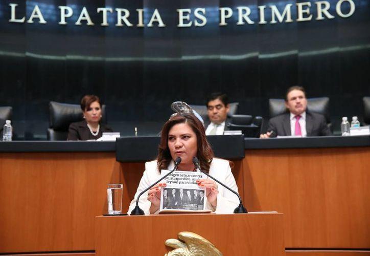 La creación de empleos y la disminución del desempleo no han mostrado un gran avance, señaló en tribuna la senadora Rosa Adriana Díaz Lizama. (SIPSE)
