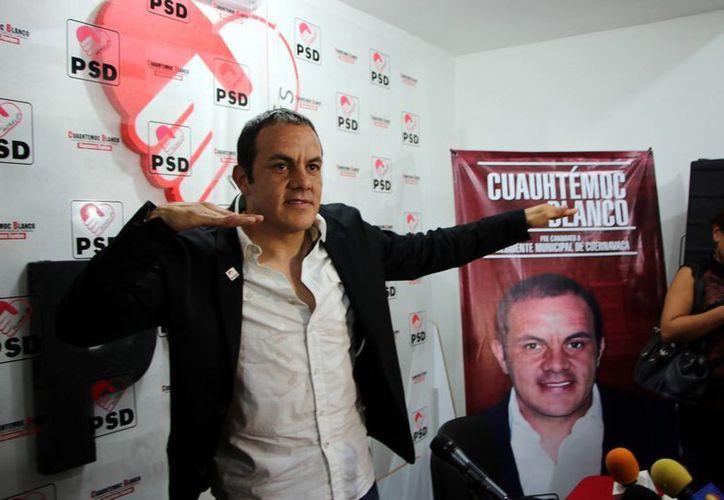Cuauhtémoc Blanco es acusado de haber firmado un contrato por siete millones de pesos para ser postulado como candidato a la presidencia municipal de Cuernavaca por el Partido Encuentro Social. (Imagen/ Archivo Reforma)