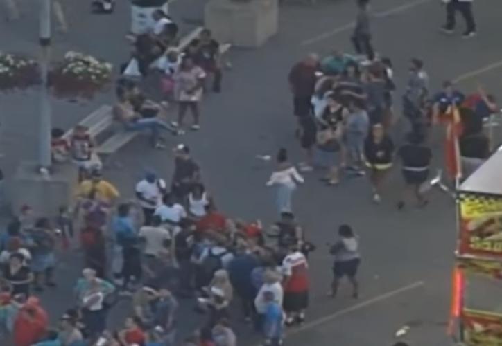 Al menos una persona murió al producirse un fallo técnico en una atracción en el primer día de la Feria Estatal de Ohio. (Captura YouTube / RT).