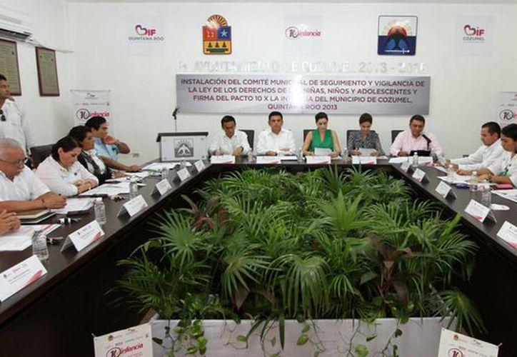 """La reunión se realizó en el salón """"Municipios de Quintana Roo"""". (Cortesía/SIPSE)"""