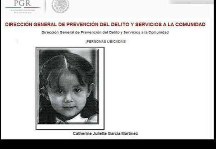 La imagen de la niña sigue circulando en internet con el estatus de desaparecida. (Agencias)