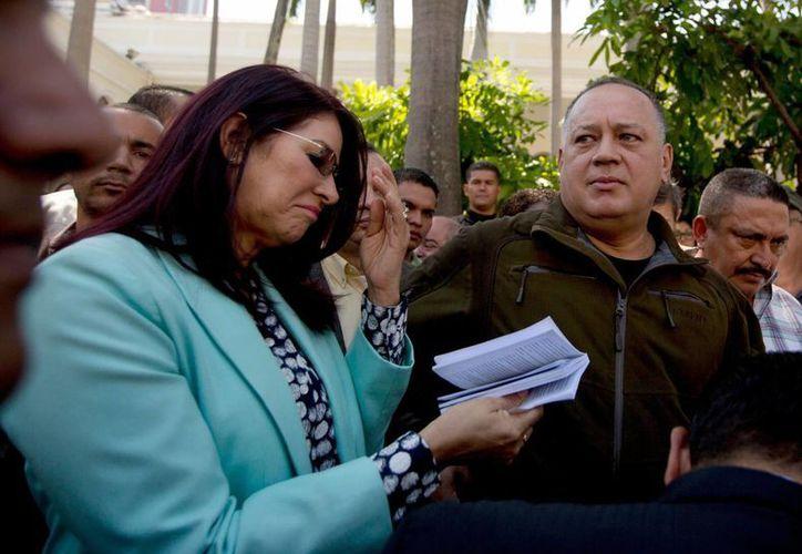 Cilia Flores, primera dama de Venezuela, se pronunció por primera vez en el caso de la detención de dos sobrinos suyos en EU. (AP)