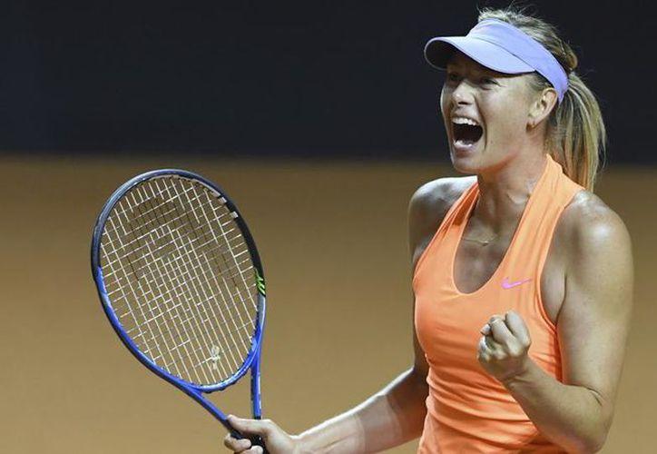 La tenista rusa Maria Sharapova quedó eliminada en las semifinales del torneo WTA. (Contexto)