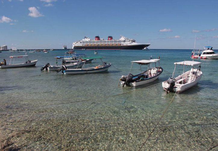Está programado el arribo de 29 cruceros a Cozumel durante la próxima semana. (Gustavo Villegas/SIPSE)