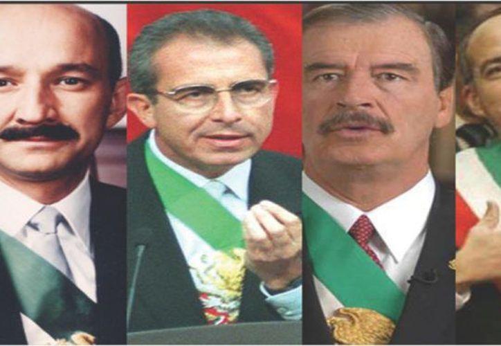 Solo los expresidentes Luis Echeverría, Vicente Fox y Felipe Calderón, reciben entre los tres un monto 7.3 millones de pesos al año. (Foto: Reflejo político)
